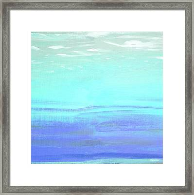 Aquatic Abstract Framed Print by Dan Meneely