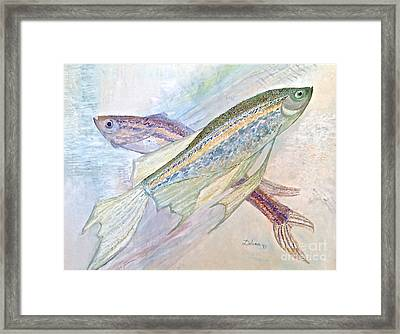 Framed Print featuring the painting Aquatic Dance  by Delona Seserman
