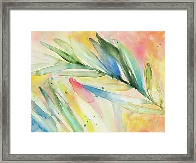 Aquatic Fronds Framed Print by Lanie Loreth