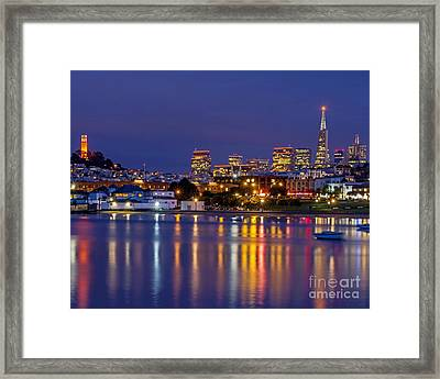 Aquatic Park Blue Hour Framed Print