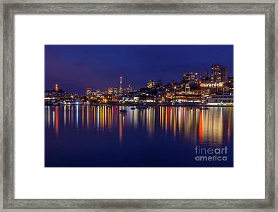 Aquatic Park Blue Hour Wide View Framed Print