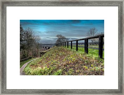 Aqueduct At Pontcysyllte Framed Print by Adrian Evans