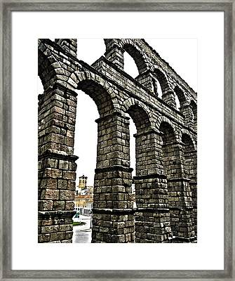 Aqueduct Of Segovia - Spain Framed Print by Juergen Weiss