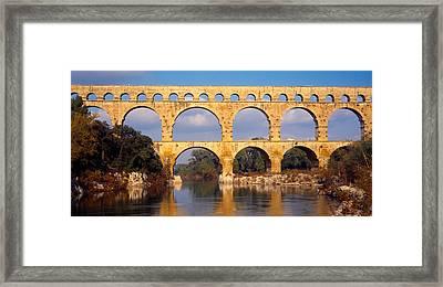 Aqueduct, Pont Du Gard Framed Print
