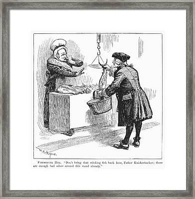 Aqueduct Scandal, 1888 Framed Print by Granger