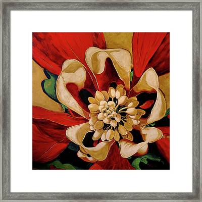 Aquilegia Framed Print by Vickie Warner