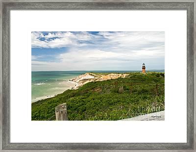 Aquinnah Gay Head Lighthouse Marthas Vineyard Massachusetts II Framed Print by Michelle Wiarda