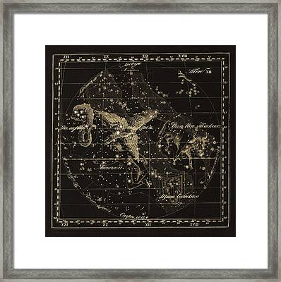 Aqulia Constellations, 1829 Framed Print by Science Photo Library