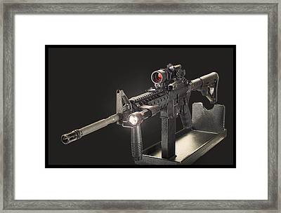 Ar 15 On Black Framed Print by Daniel Behm