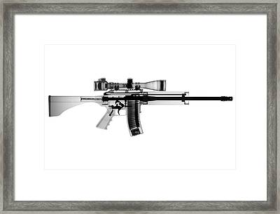 Ar 15 Pro Ordnance Carbon 15 X-ray Photograph Framed Print by Ray Gunz