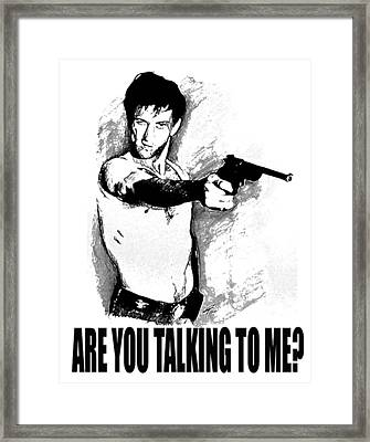 Ar You Talking To Me Framed Print by Guido Prussia