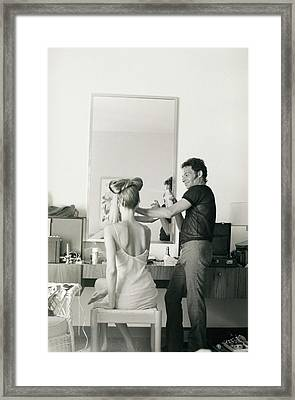 Ara Gallant Styling Veruschka's Hair Framed Print