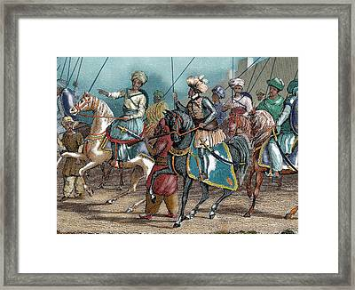 Arab Army Nineteenth-century Colored Framed Print