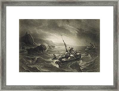 Arab Corsairs Attacked By Fishermen Framed Print
