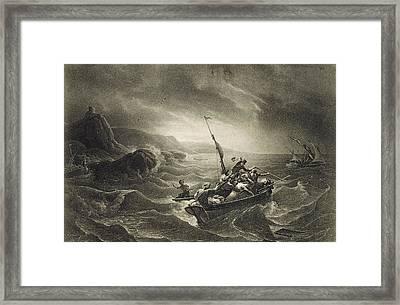 Arab Corsairs Attacked By Fishermen Framed Print by Everett