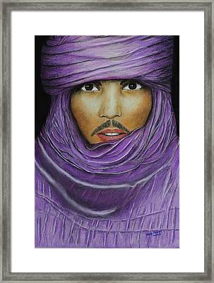 Arab In Traditional Costume Framed Print by David Hawkes