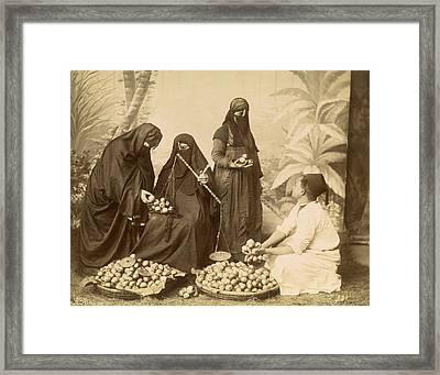 Arab Women Buying Fruit Framed Print