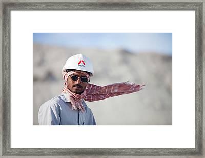 Arab Workers Working Framed Print