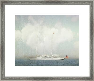 Arabella On Newport Harbor Framed Print