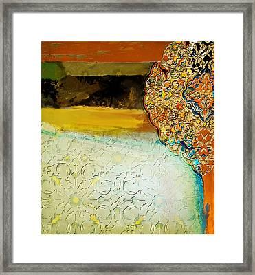 Arabesque 38 Framed Print by Shah Nawaz