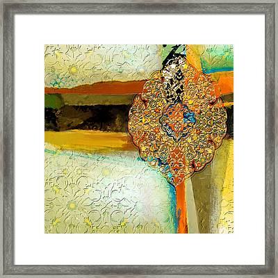 Arabesque 40 Framed Print by Shah Nawaz