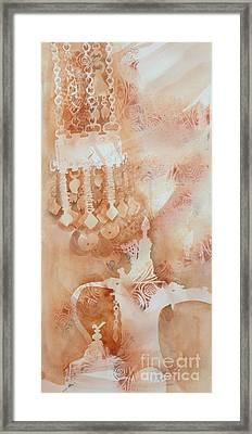 Arabesque Coffee Pots And Jewellery IIi Framed Print by Beena Samuel