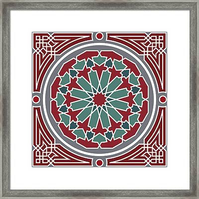 Arabesque Seamless Pattern 07 Framed Print by Pablo Romero