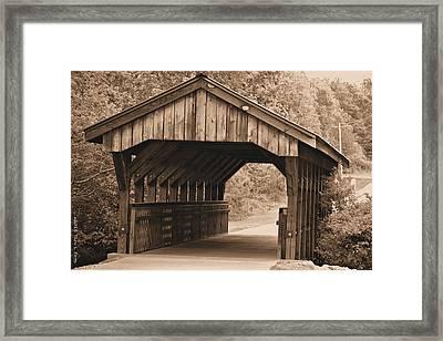 Arabia Mountain Covered Bridge Framed Print by Tara Potts