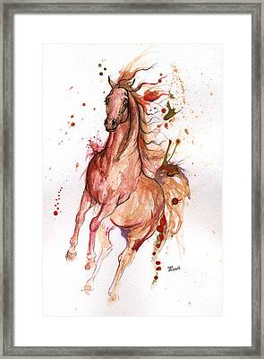 Arabian Horse 2014 10 21 Framed Print by Angel  Tarantella