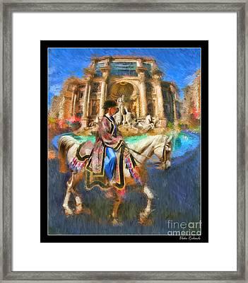 Arabian Horse  Framed Print by Blake Richards