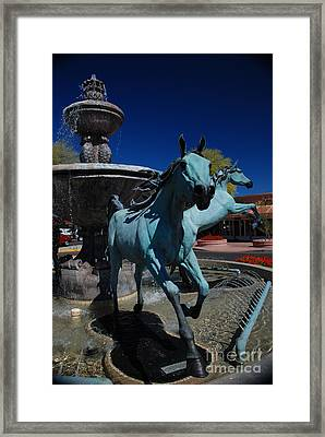 Arabian Horse Sculpture Framed Print