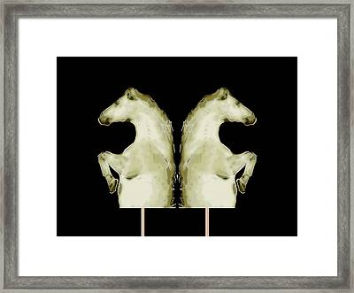 Arabian Horses Increasing Framed Print by Tommytechno Sweden