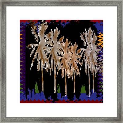 Arabian Nights Dancing Trees Sparkle Reflections Of Light And Joy  Bring This Popular Dream Art To Y Framed Print by Navin Joshi