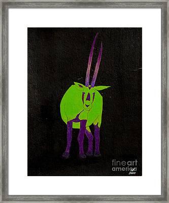 Arabian Oryx Framed Print by Stefanie Forck