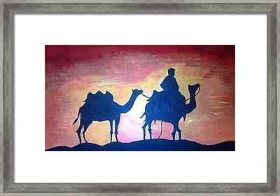 Arabian Sands Framed Print by Remya Damodaran