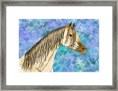 Arabian Sketch  Digital Effect Framed Print by Debbie Portwood