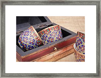 Arabian Teacups Framed Print by Tom Gowanlock