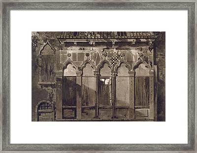 Arabian Windows, In Campo Santa Maria Framed Print