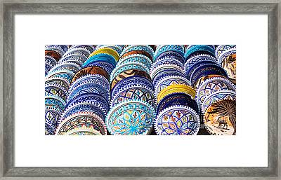 Arabic Colorful Pottery  Framed Print by Mythja  Photography
