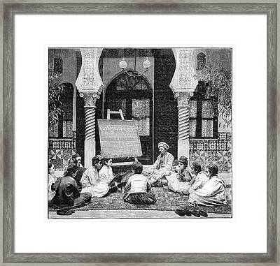 Arabic School In Algeria Framed Print by Science Photo Library