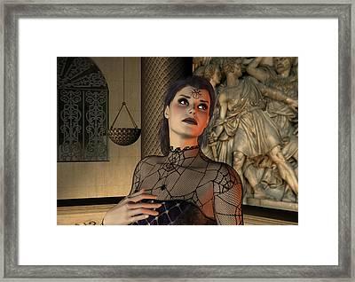 Framed Print featuring the digital art Arachna by Jayne Wilson