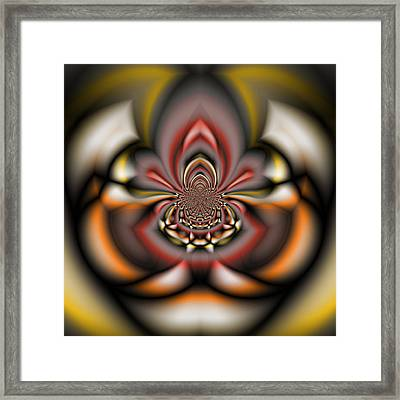 Arachnid - A Fractal Abstract Framed Print by Gina Lee Manley