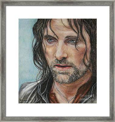 Aragorn  Framed Print by Christine Jepsen