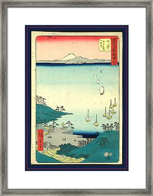 Arai, Ando Ca. 1855, 1 Print  Woodcut Framed Print by Utagawa Hiroshige Also And? Hiroshige (1797-1858), Japanese