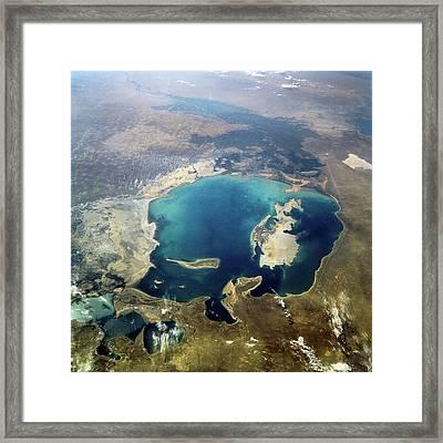 Aral Sea Framed Print by Nasa