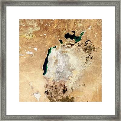 Aral Sea Framed Print by Nasaearth Observatory/jesse Allen