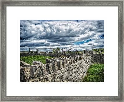 Aran Island Cemetary Ireland Framed Print