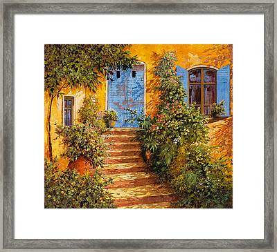 Arancio Caldo Framed Print by Guido Borelli