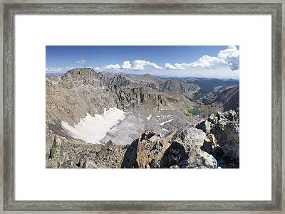 Arapaho Glacier Framed Print by Aaron Spong