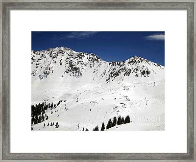 Arapahoe Basin Ski Resort - Colorado          Framed Print by Fiona Kennard